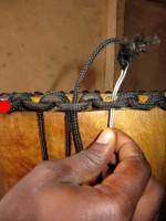 djembe stringing