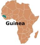 Africa Map Guinea