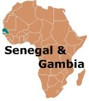 Africa Map Senegal