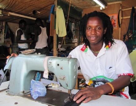 Ras, your djembe case maker in Ghana, West Africa